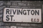 Rivington St sign